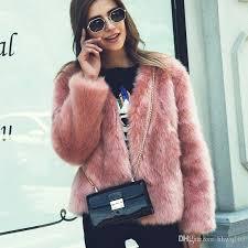 pink fur coat mens plush fox fur jacket for women black white pink green motorcycle jackets fashion girls club outwear faux fur jackets fox fur coat