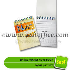 A7 Size Spiral Pocket Note Book 60pgs A7 Size