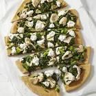 broccoli chicken white pizza