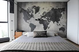High Quality Image Of: Large Black World Map Wall Decal Bedroom Ideas