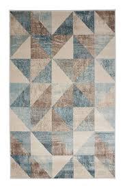 geometric rug pattern. Jersey Blue Geometric Rug Pattern U