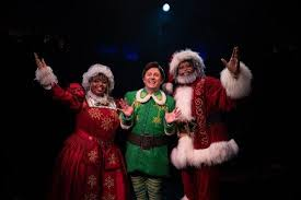 North pole elves jacket with hat and shoe covers x 17. Theatre Review Elf The Musical At Toby S Dinner Theatre Maryland Theatre Guide