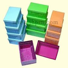 decorative stacking gift boxes plain color
