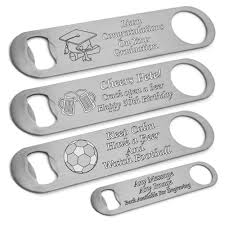 details about personalised bar blade bottle opener engraved birthday gift 18th 21st 30th 50th