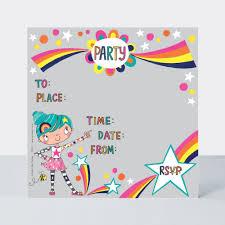 Party Invite Suki Starburst Pack Of 8