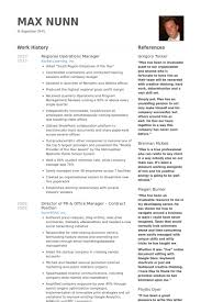 Example Of Executive Resume Inspiration Regional Operations Manager Resume Samples VisualCV Resume Samples