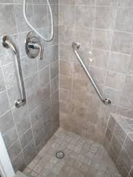 Bathroom Safety For Seniors Enchanting Handicap Shower With Grab Bars Design In 48 Bathroom Handicap