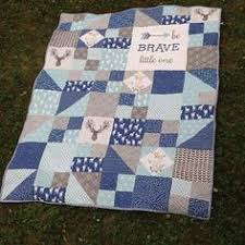 Modern Personalized Chevron Quilt for Baby Boy by Shelsy on Etsy ... & @tksupnort - For our newest grandson Jaxon Edward #hawthornethreads… Adamdwight.com