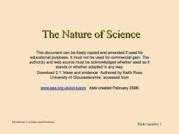 Sci Ppt Ppt The Nature Of Science Powerpoint Presentation Id 3025169