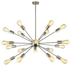 sputnik chandelier brushed nickel 18 lights modern pendant