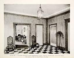 Van Interior Design Classy 48 Print Plaster Hallway Foyer Marble Cornice E Van R Thayer