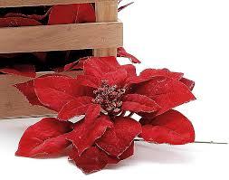 Jumbo 21cm Glitter Samt Aussehen Weihnachtsstern Blume Pick Für Weihnachten Floristik