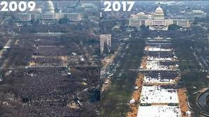 trump inauguration crowd size fox tv ratings trump inaugural well below 2009 event nfl playoffs rule