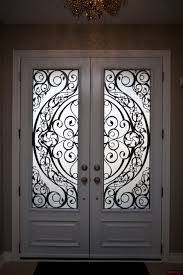 8ft double steel door with 2 contemporary design lasercut inserts executive style panels