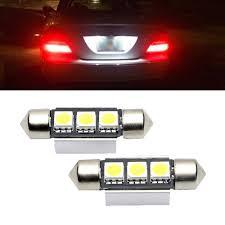 Mk5 Jetta Led Interior Lights 2x Ultra Bright White 36mm 3smd Led License Number Plate Light For Vw Passat B5 B6 Golf 4 5 Mk4 Mk5 Jetta Scirocco 12v Car Light