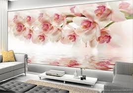 Wall Mural For Living Room Dream Orchid Flower Modern Simple Backdrop Wall Mural 3d Wallpaper