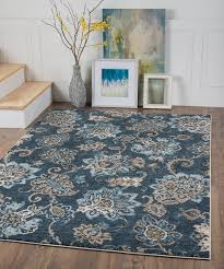 charlton home rus navy blue brown area rug reviews wayfair with regard to and idea 3
