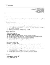 Data Entry Clerk Job Description Resume Marvelous Sample Resume For