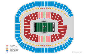 Superdome Seating Chart With Row Numbers Seating Charts Mercedes Benz Stadium