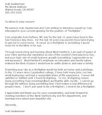 Firefighter Letter of Introduction