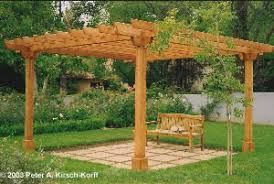 Small Picture Article Building a Redwood Garden Arbor in 5 Days