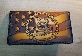 roper checkbook style custom wallet dtom since 1776 edition