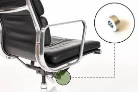 Eames Herman Miller Aluminum Group Chair Tilt End Cap Brushed Small Size Eames Replacement Chair Part