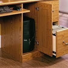 sauder 401354 ina oak finish orchard hills computer desk with hutch ca home kitchen