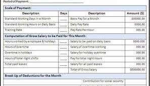 Salary Sheet Template - Word Excel Formats