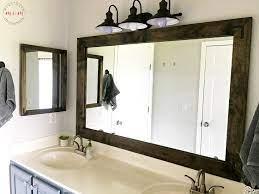 farmhouse style diy vanity mirrors