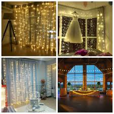 Draping And Fairy Lights For All Occasions Details About 300 Leds Window Curtain String Light Fairy Drape Lights For Birthday Wedding