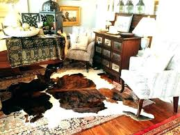 real cowhide rugs cow hide rug brown and white living room likable black striped faux small real cowhide rug