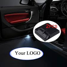 Custom Door Lights That Shine On The Ground Fangfei 2x Custom Logo Wireless Laser Projector Car Door Step Courtesy Welcome Lights Puddle Ghost Shadow Led Lights Custom Your Logo