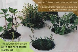 all in one herb garden starter kit to avoid the hassle of searching and