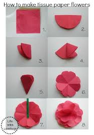How To Create A Flower With Paper How To Make Tissue Paper Flowers Tissue Paper Flowers Pinterest