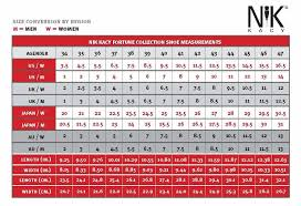 Nik Kacy Online Fitting Shoe Size Conversion Chart Care