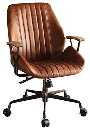 industrial office chair. Office Chair Leather Top Grain Cocoa Industrial Chairs Black I