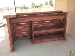 pallet bar. here is the inside view of bar table which clearly shows that has been achieved through stacking and joining pallet slats to each