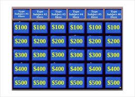 Jeopardy Game Template | Nfcnbarroom.com