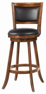 Furniture,Cheap And Cool Leather Swivel Bar Stool With Back Design And Cool  Wood Frame