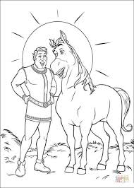 Small Picture Horse And Shrek coloring page Free Printable Coloring Pages
