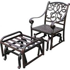 darlee santa monica cast aluminum patio glider club chair with ottoman ultimate patio