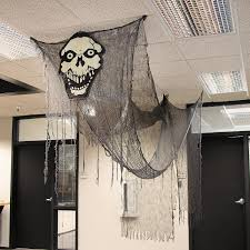 halloween office decoration. Transform Your Home Or Office Into A Haunted House With This Huge Creepy Cloth Ghost. Glow-In-The-Dark Long Fabric Ghost Is The Perfect Decora\u2026 Halloween Decoration L