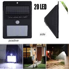 solar deck lights 20 led waterproof outdoor wireless motion sensor light