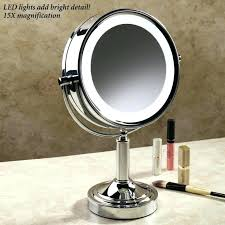 best light up makeup mirror cordless led lighted vanity mirror bedroom magnifying makeup l with light