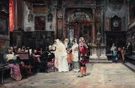 The Signing Of The Marriage Contract Painting By Jose Gallegos Y Arnosa