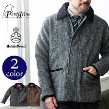 harris tweed harris tweed quilting jacket harris tweed jacket outer men autumn clothes winter clothes fashion cold protection in the fall and winter