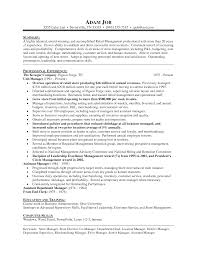 Resume Sample Sample To Write A Resume For Store Manager In