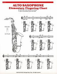 Elementary Fingering Chart Alto Sax Fingering Chart Lo