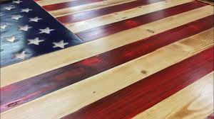 wooden american flag build